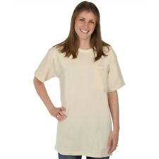 NATURAL Pocket Tee 100% Organic Cotton Hypoallergenic Crew Neck Grown and Made i