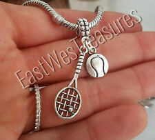 Tennis Ball racket charm pendant For bracelet necklace-European-tennis Gift