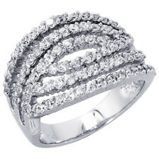 Fine Women Silver Rhodium Plated, Cocktail CZ Ring Cocktail Cubic Zirconia Ring