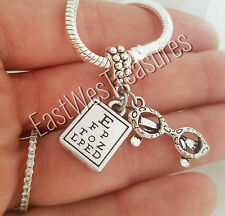 Glasses Eyeglasses Eye chart Vision Charm pendant For Bracelet necklace-European