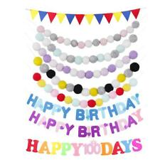 Colored Felt Pennant Banner Party Supplies Bunting Garland for Xmas Birthday