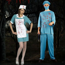 Bloody Doctor Nurse Costume Halloween Fancy Dress Surgeon Adult Outfits