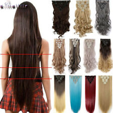 8 Pieces Long Clip ins Hair Extension Real Natural Synthetic Hair Extension XY60