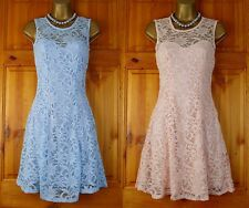 NEW EX QUIZ POWDER BLUE PINK LACE GLITTER PARTY COCKTAIL DRESS UK 8-16 RRP £35