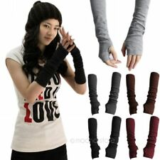 New Women Fashion Winter Wrist Arm Warmer Knitted Long Fingerless Gloves Mittens