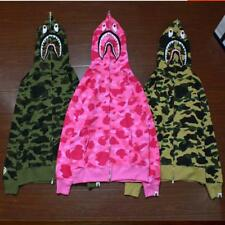 Men's Hoodie Bape Camo Shark Jaw Head Pattern A Bathing Ape Comfortable Jacket