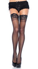 Plus Size Womens Plus Size Stay Up Sheer Thigh Highs, Thigh High Lycra Stockings