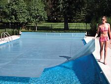 ALL SIZES!! Clear Swimming Pool Solar Heater Blanket Cover w/ Grommets-16 Mil