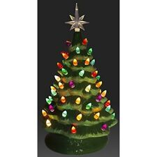 "Tabletop 14.5"" Ceramic Tree Christmas Decoration Multi Colored Lights With Star"