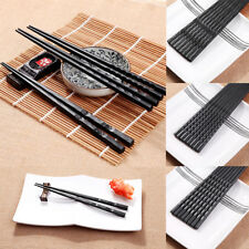 New 1 Pair Japanese Chopsticks Alloy Non-Slip Sushi Chop Sticks Set Chinese Gift