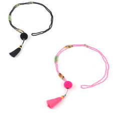 Bohemian Colorful Tassel Long Hairball 1 Pcs Women Necklace Jewelry Beaded