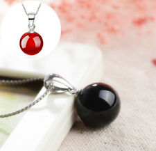 Pendant Necklace Natural Agate 2016 Fashion Men's Silvered Women's Jewelry NEW