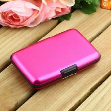 Hot Casual Aluminum Hard Wallet Case  Credit Card Candy Color Smooth/Stripes