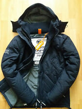 SUPERDRY MENS QUILTED HOODED WINDCHEATER JACKET NAVY FLEECED LINED BNWT COAT