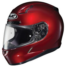 HJC Adult CL-17 Solid Wine Red Full Face Motorcycle Helmet Snell DOT
