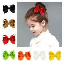 Princess Grosgrain Girls Ribbon Clip Kid Hair Bows Hairpin Alligator Baby 10Pcs