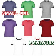 Mens Womens Unisex Retro Heather Fashion basic ringer tee T-Shirt Tshirt lot