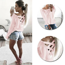 Blouse Tops Casual T Shirt Loose Womens Long Sleeve Shirt New Fashion