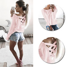 New Fashion Loose Blouse Tops Womens Long Sleeve Shirt Casual T Shirt