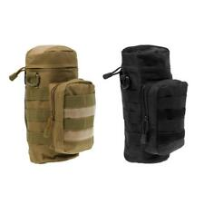 Outdoor Tactical Military Molle System Water Bottle Bag Kettle Pouch, 2pcs