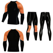 Long Sleeves Compression Shirt Pants Set Men's sportswear Leggings Sport Suit