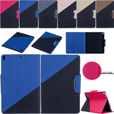 Luxury PU Leather Folio Stand Buckle Cover Case Shell For iPad Samsung Tablet