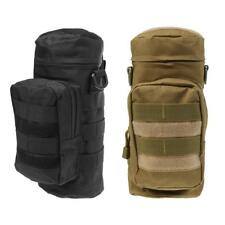 2pcs Molle System Water Bottle Bag Outdoor Tactical Military Kettle Holder Pouch