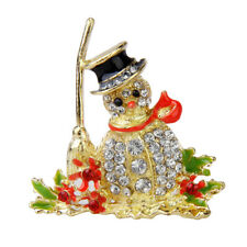 Christmas Bell Snowflake Snowman Bear Brooch Pin Fancy Cute Color Jewelry
