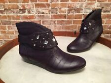 Libby Edelman Henson Purple Studded Removable Harness Ankle Boot New