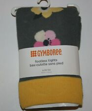 New Gymboree Outlet Gray Floral Footless Tights NWT Size 4 5 6 7 8 10 12 Year