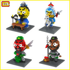 Mini Zhu Geliang Guan Yu Zhang Fei Zhao Yun Figures Set Diamond Nano Blocks Toys