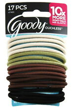 Goody 17-pcs Ouchless No Metal Elastics Hair Tie Accessory Ponytail Band 47403