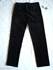 Scott James 'Garret' Straight Leg Corduroy Pants (Unfinished hem) Black 34,36
