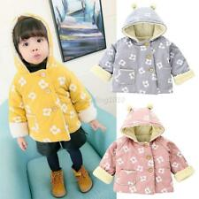 Toddler Baby Cotton Coat Girls Kids Winter Warm Floral Jacket Outerwear Clothes
