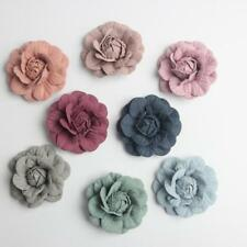 10pcs 5cm Suede Fake Artificial Flower Roses Head for Wedding Decoration Wreath