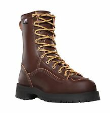 """Danner Super Rain Forest 10600 Mens Brown Leather 8"""" Waterproof Work Boots"""