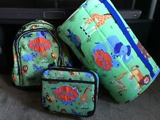 Personalized Boys Napmat Lunch box Backpack set School Daycare Kindergarten set