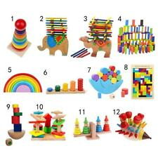 Kids Wooden Montessori Toys Bright Coloured Puzzle/ Blocks Children Play Toy