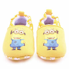 NEW Minions Despicable Me First Walker Soft Sole Baby Crib Shoes Slippers