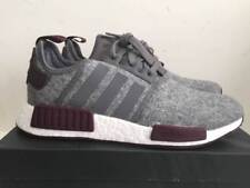 Adidas NMD R1 Grey Wool Maroon White CQ0761 Exclusive Boost Runner Men's Size