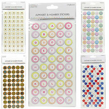 Simply Creative Alphabet & Number Chipboard / Cork Stickers Craft Embellishments