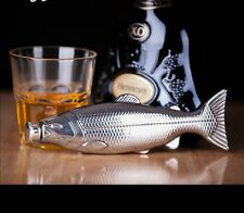 Personality Fish Shape 4 oz Food Grade Stainless Steel Hip Flask Alcohol Fish