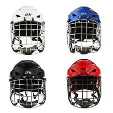 Ice Hockey Helmet with Face Mask Cage Protective Gear Various Colors XS-XL