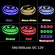 5M SMD Cool/Warm white Waterproof Strip Light 5050 3528 5630 LED Flexible Light