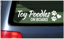 Toy Poodles On Board Sticker Vinyl Decal Car Window Fun dog puppy French poodle