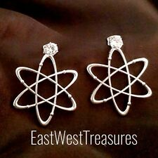 Science Symbol (Atom) earrings/Chemist Chemistry Molecule Atomic Biology earring