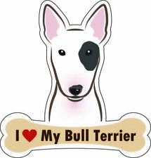 Dog Bone Sticker I Love My Bull Terrier Car Sign Puppy Decal Buy 2 Get 3rd Free