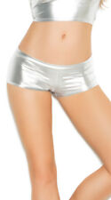 Womens Plus Size Metallic Booty Shorts, Plus Size Shiny Hot Pants