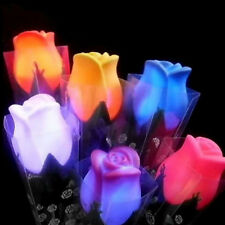 New LED Night Light Rose Flower Home Decor Romantic Outdoor Path Lawn Lamp Gifts