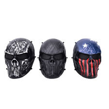 Airsoft Paintball Full Face Skull Skeleton Mask Tactical Military Cosplay Party^